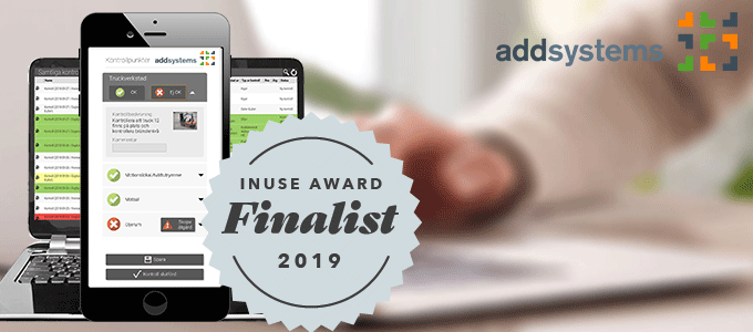 Add-lösning till final i InUse Award 2019